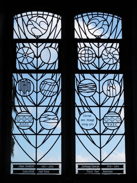 St. Helen's  Church, Whitley Chapel - stained glass window (3)