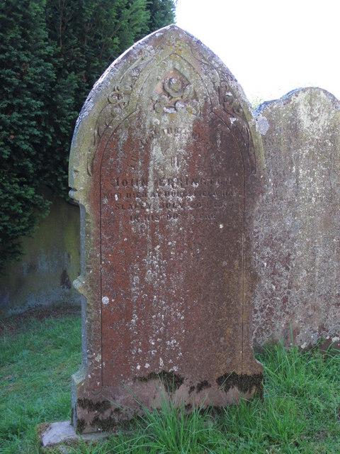 St. Helen's  Church, Whitley Chapel - 19th C gravestone