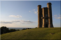 SP1136 : Broadway Tower and view beyond by Philip Halling