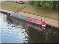 SO8455 : Working Narrow Boat Hadar moored in Worcester, alongside the racecourse by Keith Lodge