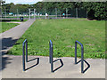 TQ3773 : Cycle stand at southern end of Ladywell Fields by Stephen Craven