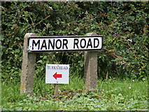 TM2649 : Manor Road sign by Geographer