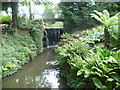 TQ3768 : Waterfall outlet for main lake in Kelsey Park by Marathon