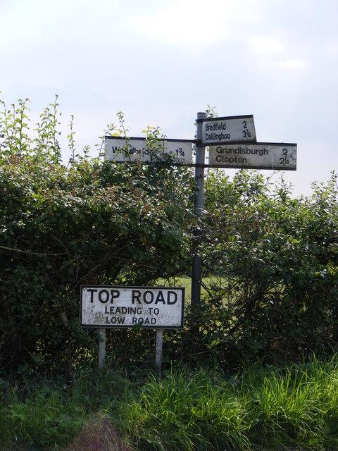 Roadsign on Boulge Road