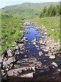 NN2417 : View west from bridge over Allt na Lairige by David P Howard