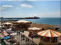 TQ3103 : Carousels - Brighton beach by Paul Gillett