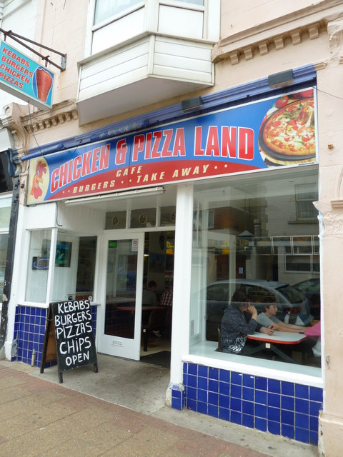 Chicken Pizza Land In The High Street Basher Eyre Cc By