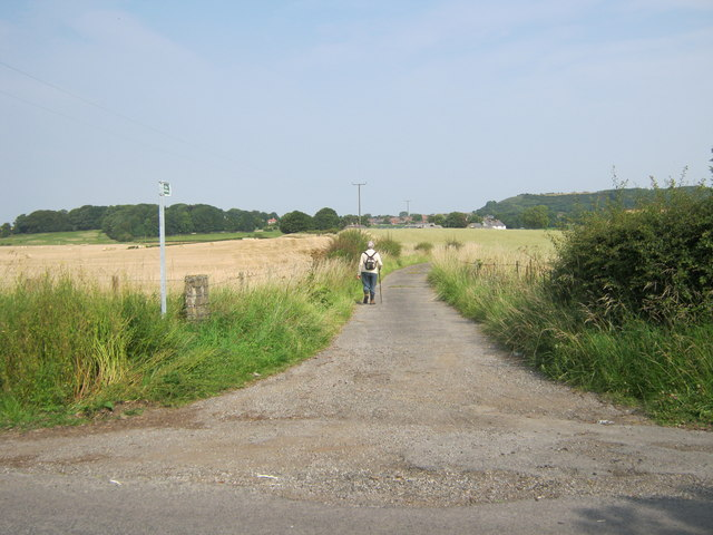 Footpath on drive to Littletown Farm and beyond