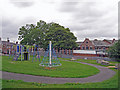 NZ2452 : Play park in Newfield by Richard Dorrell