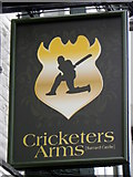 NZ0516 : Sign for the Cricketers Arms by Maigheach-gheal