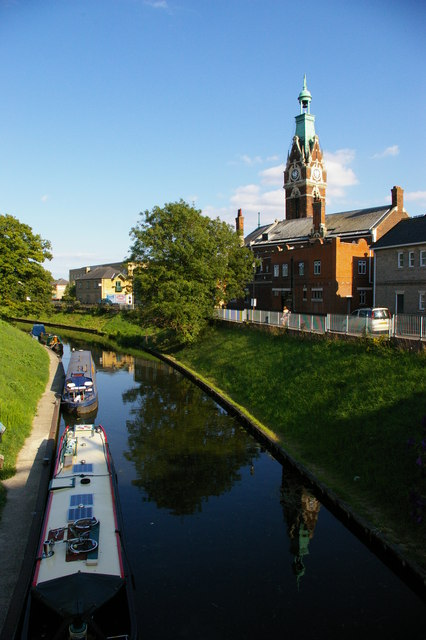 March: River Nene (old course) and town hall
