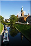 TL4196 : March: River Nene (old course) and town hall by Christopher Hilton