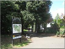 TQ4667 : Footpath junction in Poverest Park by David Anstiss