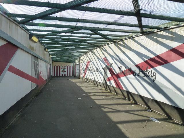 Railway bridge near St Mary's Stadium