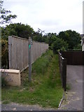 TM4160 : Footpath to Mill Road & Chase's Lane by Geographer