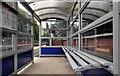 J2969 : Passenger shelter, Dunmurry station by Albert Bridge