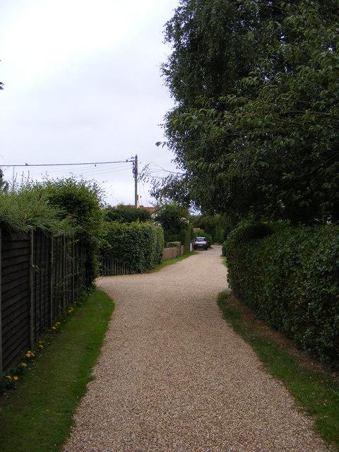 Donkey Lane, Friston & footpath to Mill & Low Roads
