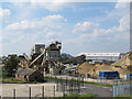 TQ5079 : Aggregate works near Erith by Stephen Craven