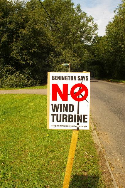 Roadside placard, Benington, Hertfordshire (1)