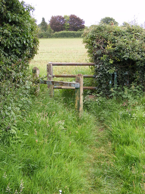 Stile of the footpath to Grove Road
