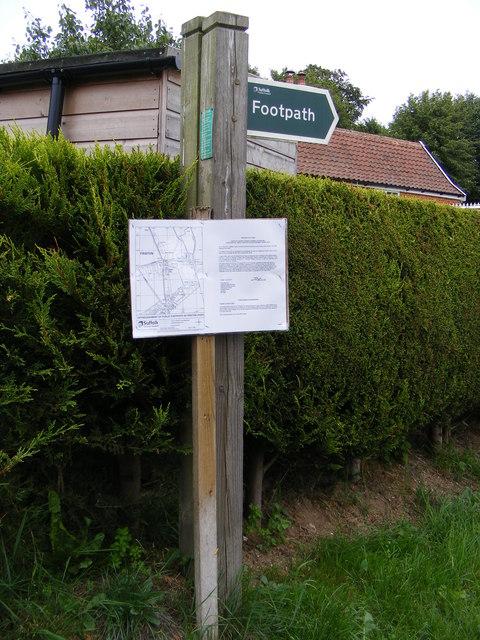 Footpath sign & amendment notice