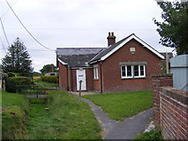 TM4160 : Friston Village Hall & Church Path footpath to Grove Road by Geographer