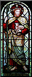 TQ3385 : St Barnabas, Shacklewell Row, Dalston - Stained glass window by John Salmon