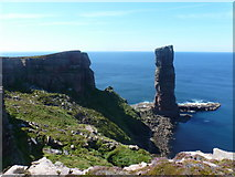 HY1700 : Hoy: the Old Man of Hoy and neighbouring cliffs by Chris Downer
