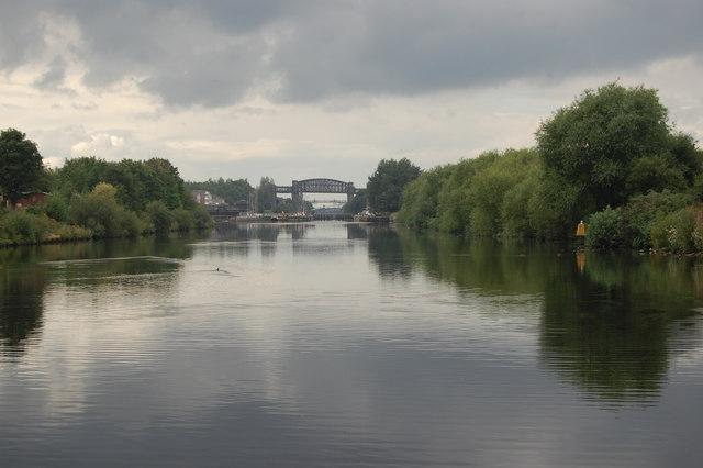 View towards Latchford Lock