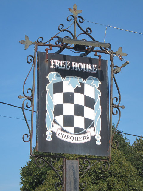 The Chequers sign