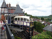 SO7193 : Bridgnorth cliff railway by Jeremy Bolwell