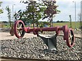 NS8253 : A crankshaft on the roundabout for the A73 and A721 junction by Elliott Simpson