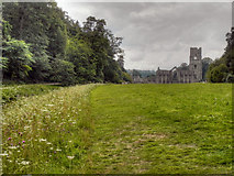 SE2768 : Fountains Abbey, Abbey Green by David Dixon