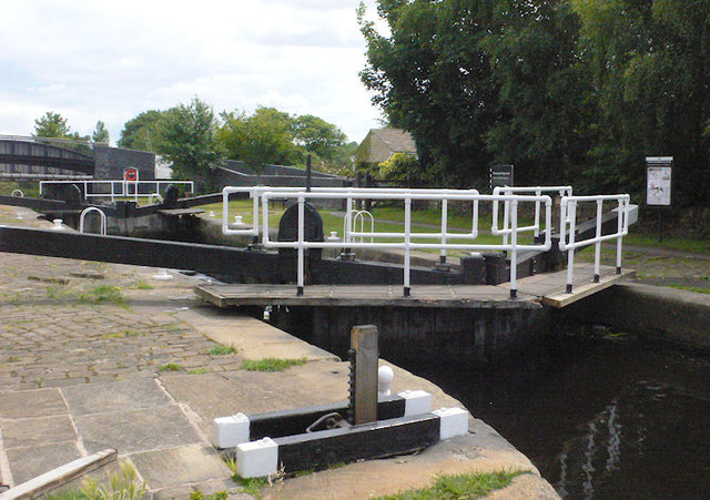 Shepley Bridge Lock from above