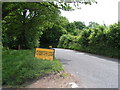 ST5960 : Road closure warning by Rob Purvis