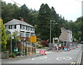 SN8202 : Temporary traffic lights, Neath Road, Resolven by Jaggery
