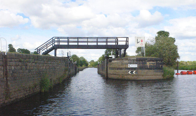 Thornes Flood Lock from river
