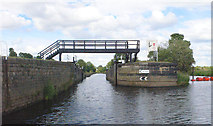 SE3118 : Thornes Flood Lock from river by Mike Todd