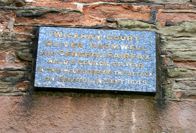 Plaque on Wickham Court
