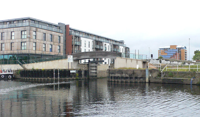 Wakefield Flood Gates from the river