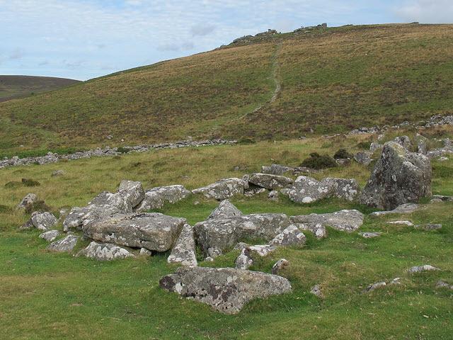 Bronze age hut at Grimspound