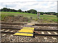 TM1234 : Pedestrian Crossing over railway by Roger Jones