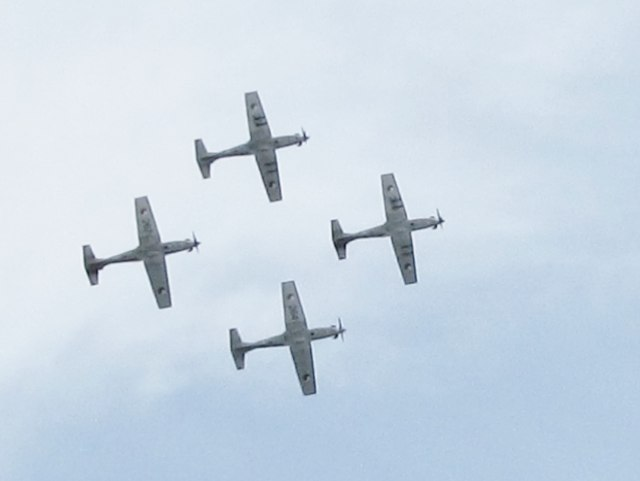 The Irish Air Corps Formation Team over Newcastle