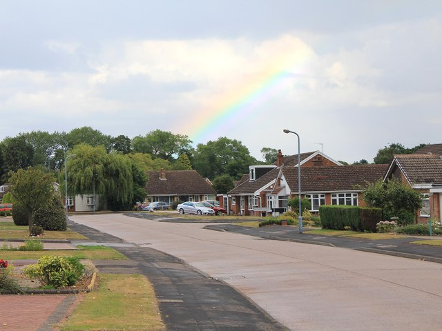 Rainbow over Heath Croft Road