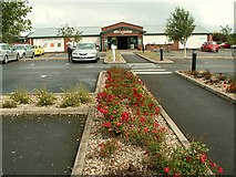 NX9575 : Car park at Garden Wise by Rose and Trev Clough