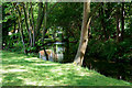 TQ2766 : River Wandle at Hackbridge by Peter Trimming
