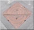 SJ8858 : Pam Inter-ax 2 manhole cover by Jonathan Kington