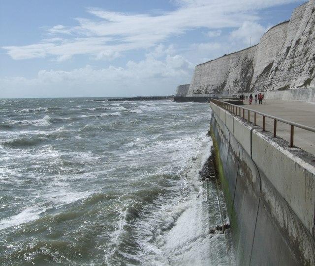 Rough seas near Saltdean by Paul Gillett