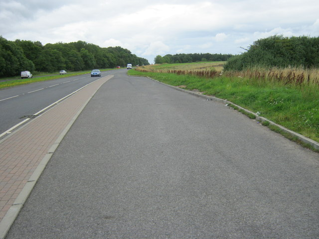 Layby on the A689 eastbound