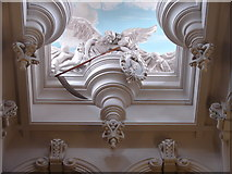 SK8932 : Detail above the Cedar Staircase, Harlaxton Manor by Ian Paterson